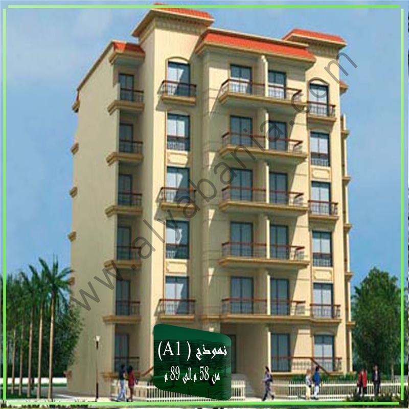 شقة فى مدينة الرحاب  89 م2 بحرى للبيع تقسيط كود 43297