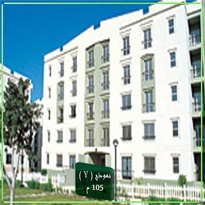 شقة فى مدينة الرحاب  105 م2 للبيع كاش شرقى كود 7983
