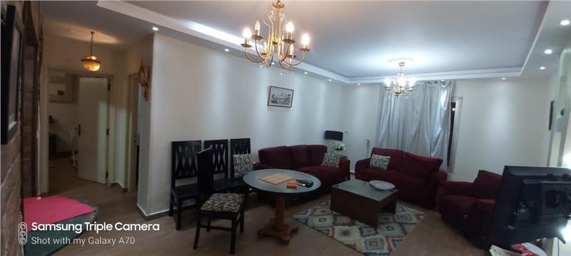 شقة فى مدينة الرحاب  90 م2 قبلى للايجار مفروش كود 11780
