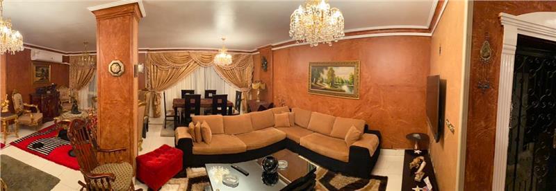 شقة فى مدينة الرحاب  155 م2 بحري وشرقي للايجار مفروش كود 15971