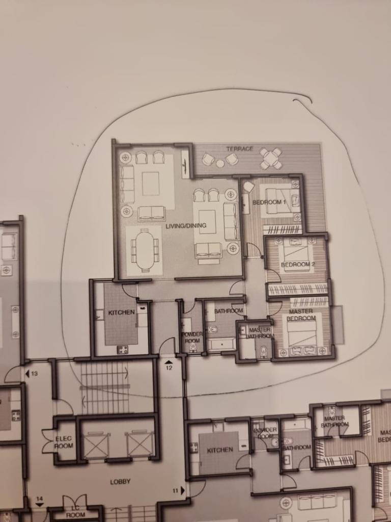 شقة فى مشروع نور - حدائق العاصمة الادارية 184 م2 بحري وشرقي للبيع تقسيط كود 43053