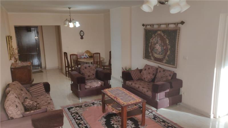 شقة فى مدينة الرحاب  155 م2 بحري وشرقي للايجار مفروش كود 6730